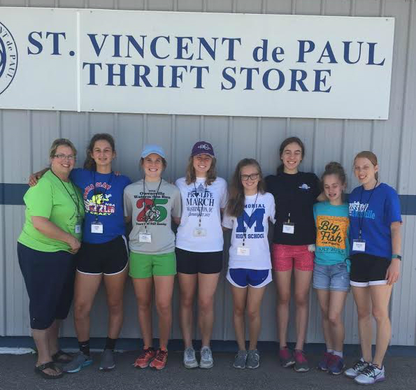 Summer Youth Program Participants Volunteer at the Thrift Store