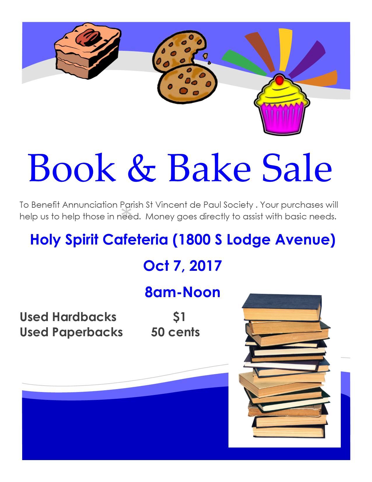 Annunciation Parish SVdP Conference Hosting Book & Bake Sale!