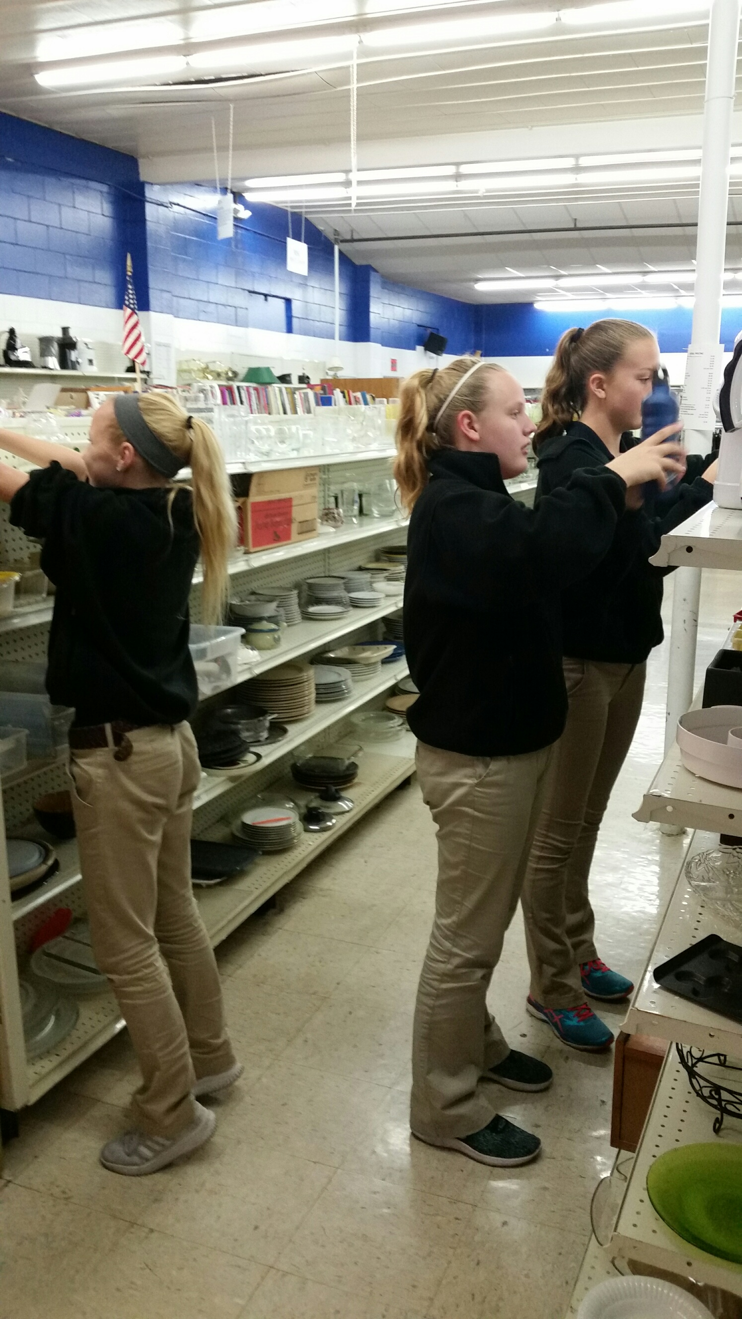 St. Wendel Students Volunteer at the Thrift Store