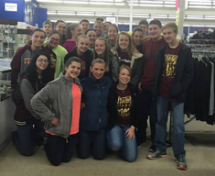 Volunteers Help Thrift Store