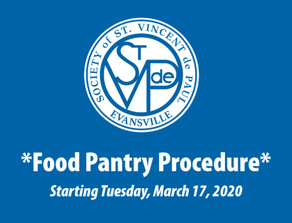 Food Pantry Procedure Starting March 17, 2020
