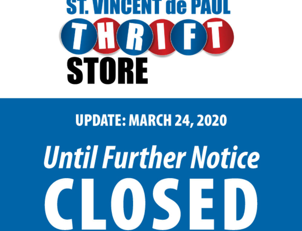 SVDP Thrift Store Temporarily Closed
